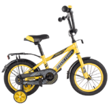 """Детский велосипед Tech Team 134 12"""" от 2 до 4 лет желтый"""