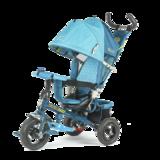 Детский трехколесный велосипед Tech Team 952S-AT с надувными колесами бирюзовый