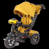 Трехколесный велосипед Tech Team Luxury голубой желтый