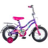 Детский велосипед Novatrack Tetris 12'' от 2 до 4 лет фиолетовый
