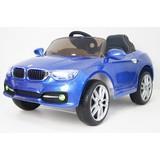 Детский электромобиль RiverToys BMW P333BP синий глянец