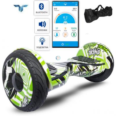 Гироскутер Smart Balance Suv Premium New 10,5 Рейсер зеленый, с приложением тао тао