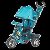 Детский трехколесный велосипед Tech Team 950D-AT с надувными колесами бирюзовый