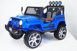 Детский полноприводный электромобиль RiverToys Jeep Т008ТТ 4*4 синий
