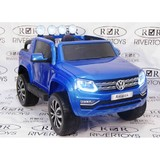 Электромобиль двухместный полноприводный Rivertoys Volkswagen Amarok M999MM синий глянец