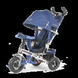 Детский трехколесный велосипед Tech Team 952S-AT с надувными колесами синий
