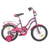 """Детский велосипед Novatrack Tetris 14"""" от 3 до 5 лет фиолетовый"""