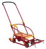 Санки детские Nika Nikki 3 (выдвижные колеса) красный