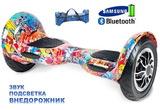 Гироскутер Smart Balance SUV 10 Hip-Hop 3 (мини-сигвей Smart Balance AMG 10 граффити Хип-Хоп 3), с надувными колесами