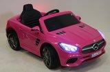 Детский электромобиль MERCEDES-BENZ SL500 (ЛИЦЕНЗИОННАЯ МОДЕЛЬ) с дистанционным управлением розовый