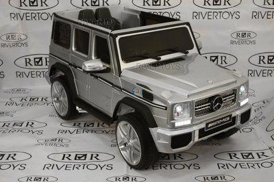 Электромобиль Mercedes-Benz G-65 AMG (ЛИЦЕНЗИОННАЯ МОДЕЛЬ) с дистанционным управлением серебристый глянец