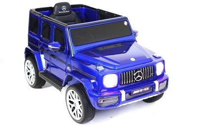 Детский электромобиль Mercedes-Benz G63 T999TT (ЛИЦЕНЗИОННАЯ МОДЕЛЬ) с дистанционным управлением вишнёвый глянец