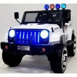 Детский полноприводный электромобиль RiverToys Jeep Т008ТТ 4*4 белый