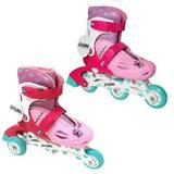 Детские раздвижные роликовые коньки  Moby Kids 2в1 розовые