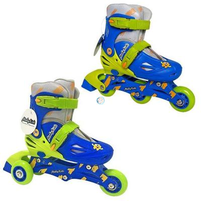 Детские раздвижные роликовые коньки  Moby Kids 2в1 синие