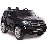 Электромобиль полноприводный двухместный Rivertoys Mercedes-Benz GLS63 4WD черный глянец