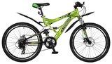 Двухподвесный велосипед Stinger Versus D 26 (2018) Зеленый