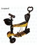 Самокат Scooter Беговел 5в1 принт Леопард с Родительской Ручкой