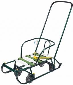 Санки Тимка 6 Универсал (выдвижные колеса) T6У зеленый