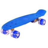 "Скейтборд Classic 22"" 56x15 пластик со светящимися колесами Синий"