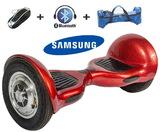 Гироскутер Smart Balance SUV 10 карбон красный (мини-сигвей), с надувными колесами