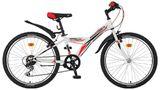 Подростковый велосипед Novatrack Racer 24'' белый